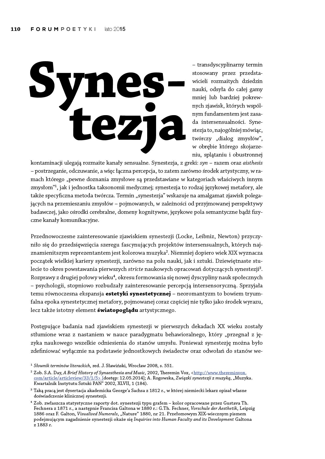 Synestezja