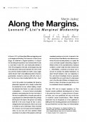 Along the Margins. Leonard F. Lisi's Marginal Modernity