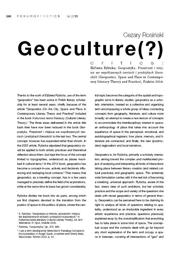 Geoculture(?)