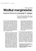 Wzdłuż marginesów. Marginal Modernity Leonarda F. Lisiego