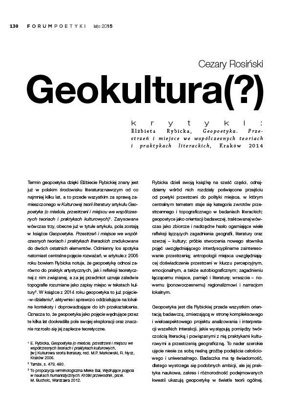 Geokultura(?)