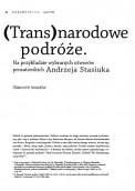 (Trans)narodowe podróże. Na przykładzie wybranych utworów prozatorskich Andrzeja Stasiuka