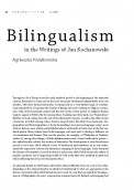 Bilingualism in the Writings of Jan Kochanowski