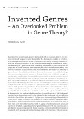 Invented Genres – An Overlooked Problem in Genre Theory?