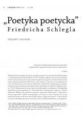 """""""Poetyka poetycka"""" Friedricha Schlegla"""