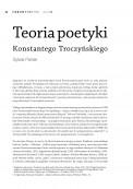 Teoria poetyki Konstantego Troczyńskiego