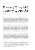 Konstanty Troczyński's Theory of Poetics
