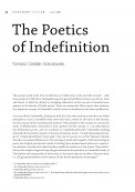 The Poetics of Indefinition