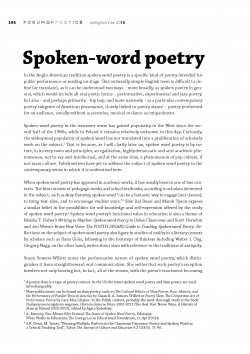 Spoken-word poetry