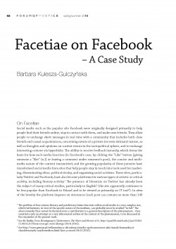 Facetiae on Facebook – A Case Study