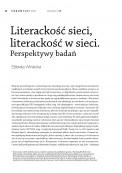 Literackość sieci, literackość w sieci. Perspektywy badań