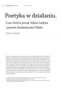 Poetyka w działaniu. Czas i kod w poezji Johna Cayleya i poetów Rozdzielczości Chleba