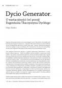 Dycio Generator. O wariacyjności (w) poezji Eugeniusza Tkaczyszyna-Dyckiego