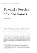 Toward a Poetics of Video Games