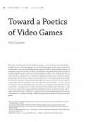 Toward a Poetics of Video Games