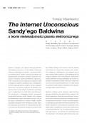 The Internet Unconscious Sandy'ego Baldwina  a teorie nieświadomości pisania elektronicznego