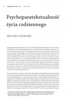 Psychoparatekstualność życia codziennego