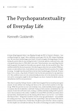 The Psychoparatextuality of Everyday Life