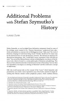 Additional Problems with Stefan Szymutko's History