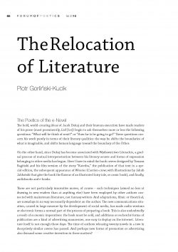 The Relocation of Literature