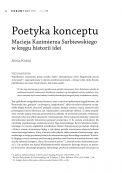 Poetyka konceptu Macieja Kazimierza Sarbiewskiego w kręgu historii idei