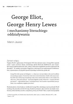 "historical and literary influences on george elliot essay George eliot was born mary ann evans in warwickshire in 1819  and a general  awareness—expressed in her 1856 essay ""silly novels by  as well as reviews  and poetry, her life, literary influences, and historical contexts."