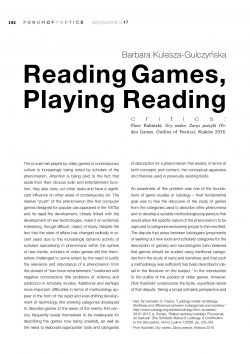 Reading Games, Playing Reading