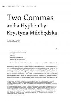Two Commas and a Hyphen by Krystyna Miłobędzka