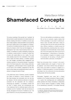 Shamefaced Concepts