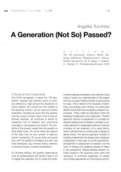 A Generation (Not So) Passed?