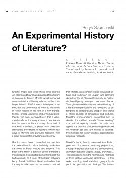 An Experimental History of Literature?