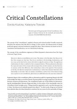 Critical Constellations