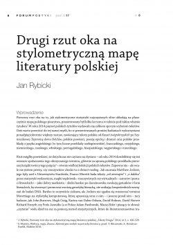Drugi rzut oka na stylometryczną mapę literatury polskiej