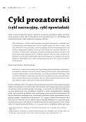 Cykl prozatorski  (cykl narracyjny, cykl opowiadań)