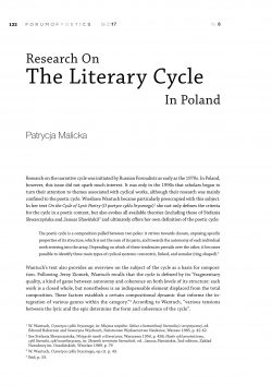 Research On  The Literary Cycle In Poland