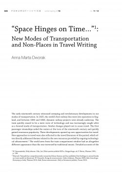"""Space Hinges on Time…"": New Modes of Transportation and Non-Places in Travel Writing"