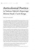 Anticolonial Poetics in Tadeusz Dębicki's Reportage: Moienzi Nzadi. U wrót Konga