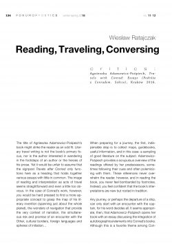 Reading, Traveling, Conversing