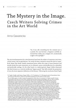 The Mystery in the Image. Czech Writers Solving Crimes in the Art World
