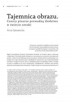 Tajemnica obrazu. Czescy pisarze prowadzą śledztwo w świecie sztuki