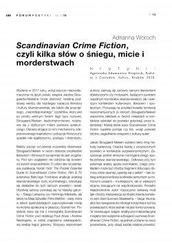 Scandinavian Crime Fiction, czyli kilka słów o śniegu, micie i morderstwach