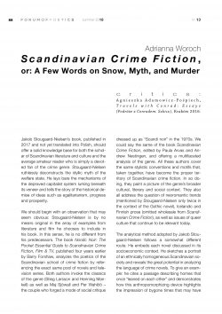 Scandinavian Crime Fiction, or: A Few Words on Snow, Myth, and Murder
