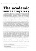 The academic murder mystery