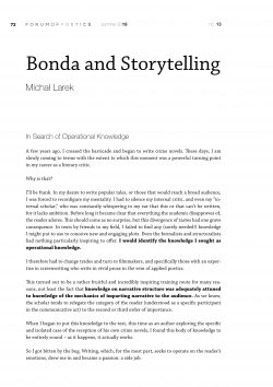 Bonda and Storytelling