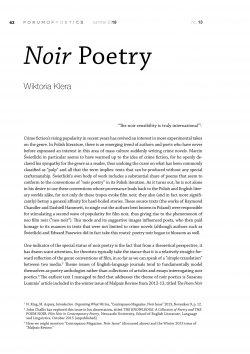 Noir Poetry