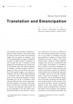 Translation and Emancipation