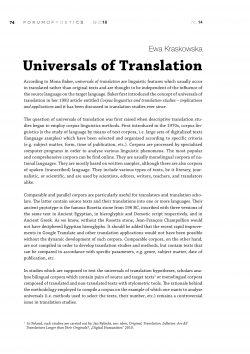 Universals of Translation