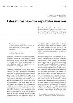 Literaturoznawcza republika marzeń