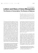 Letters and Diary of Anna Moszyńska:  The Obverse of Conversation, The Reverse of Madness