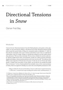 Directional Tensions in Snow